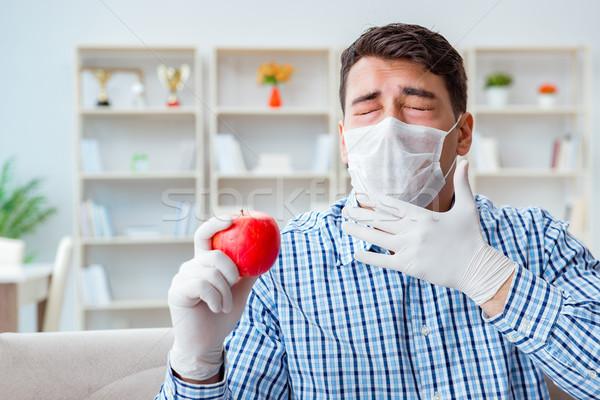 Uomo sofferenza allergia medici primavera alimentare Foto d'archivio © Elnur
