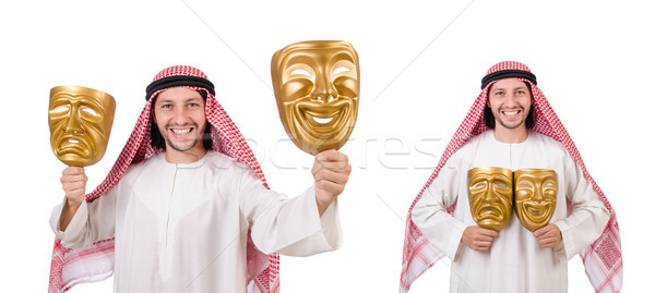 Arab in hypocrisy concept on white Stock photo © Elnur