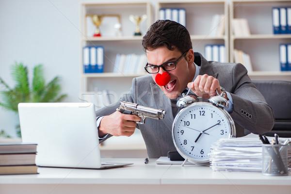клоуна бизнесмен рабочих служба сердиться Сток-фото © Elnur