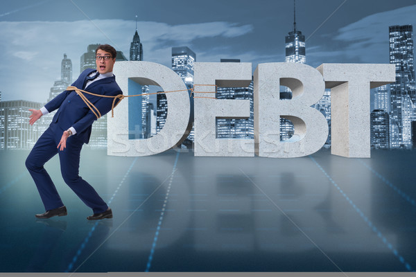 The man in debt business concept Stock photo © Elnur