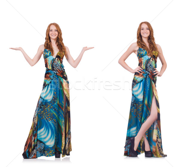 Model in nice dress isolated on white Stock photo © Elnur