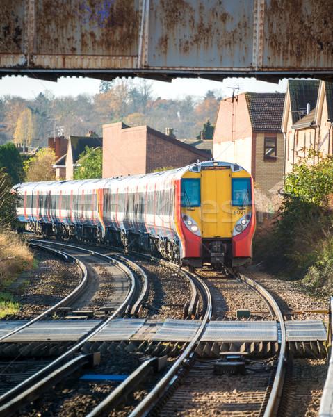 Ray parlak yaz gün yol tren Stok fotoğraf © Elnur