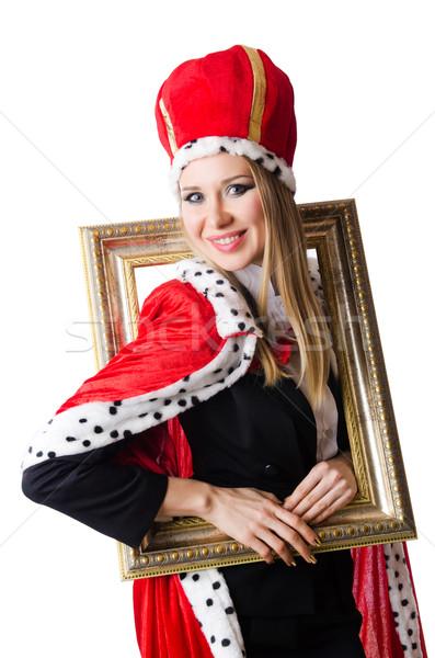 Mulher rainha engraçado trabalhar empresário executivo Foto stock © Elnur