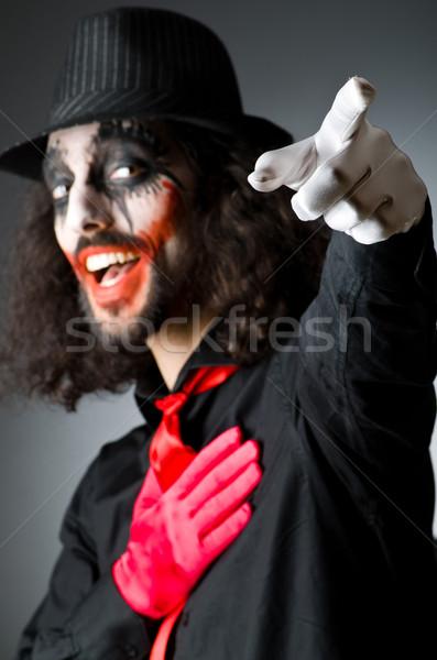 Férfi sötét szoba arc boldog divat Stock fotó © Elnur