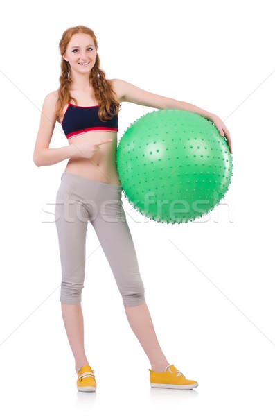 женщину мяча белый девушки тело Сток-фото © Elnur