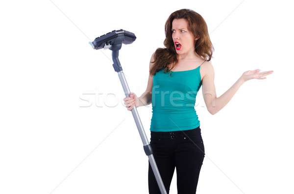 Woman doing housekeeping stuff at home Stock photo © Elnur