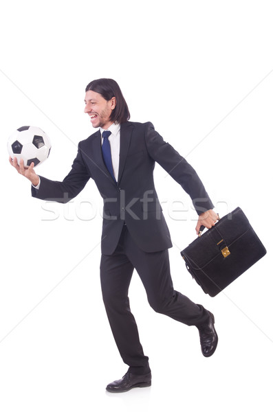 Man with football isolated on white Stock photo © Elnur