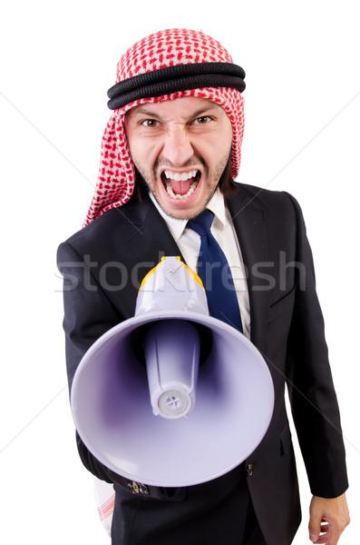 アラブ ラウドスピーカー 孤立した 白 ビジネス ストックフォト © Elnur