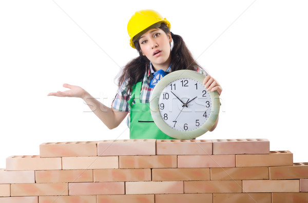 Concept of delay in construction Stock photo © Elnur