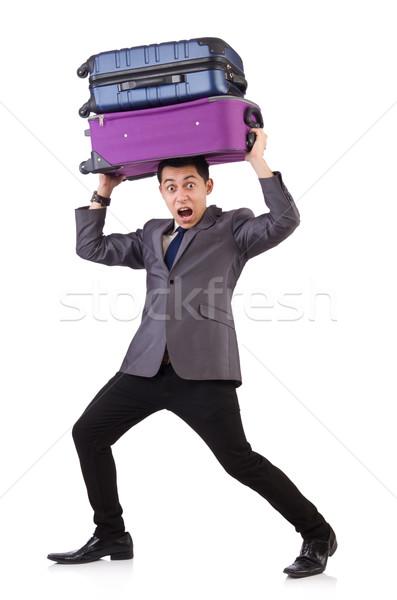旅行 休暇 荷物 白 幸せ 背景 ストックフォト © Elnur