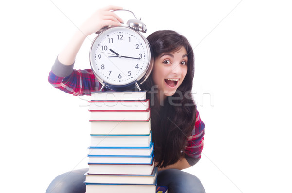 Jóvenes femenino estudiante que falta plazos blanco Foto stock © Elnur