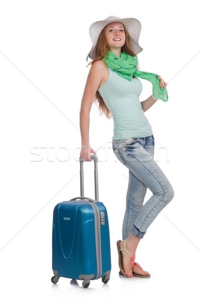путешествия отпуск Камера белый девушки счастливым Сток-фото © Elnur