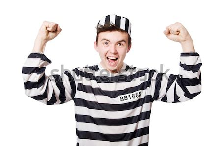 Vicces börtön bennlakó rendőrség labda szabadság Stock fotó © Elnur
