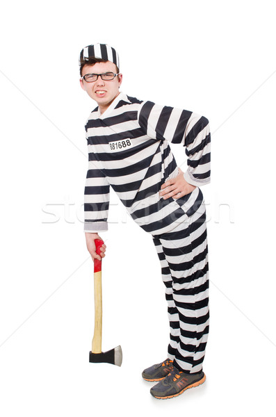 Divertente carcere detenuto legge divertimento polizia Foto d'archivio © Elnur
