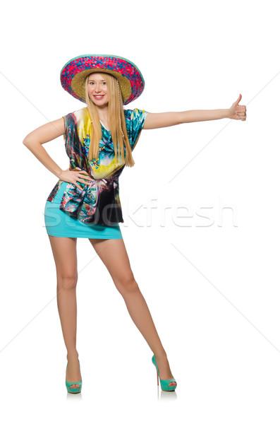 Engraçado mexicano sombrero feliz retro feminino Foto stock © Elnur