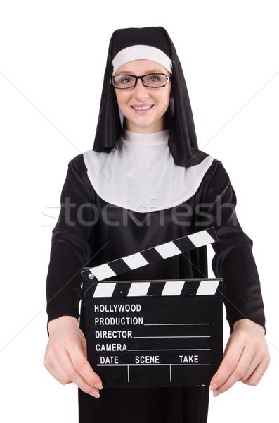 Freira filme conselho isolado branco vídeo Foto stock © Elnur