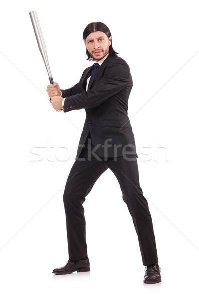 Man with baseball bat isolated on white Stock photo © Elnur