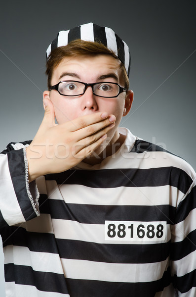 Prison inmate in funny concept Stock photo © Elnur