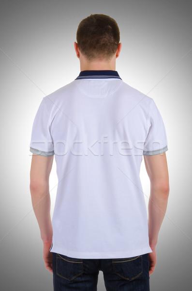 Homme tshirt isolé blanche modèle Shopping Photo stock © Elnur
