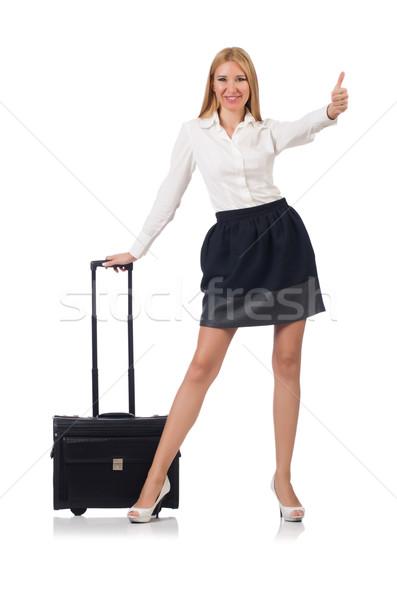 деловая женщина Камера изолированный белый бизнеса девушки Сток-фото © Elnur