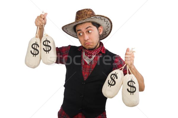 Młodych cowboy odizolowany biały ceny chłopca Zdjęcia stock © Elnur