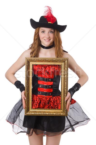 Femme pirate cadre photo isolé blanche noir Photo stock © Elnur