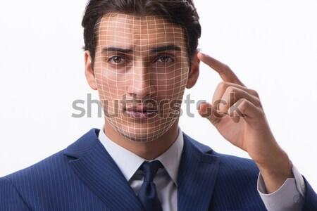 Badly beaten businessman isolated on white Stock photo © Elnur