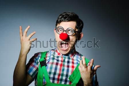 Funny clown saluting like Nazi Stock photo © Elnur
