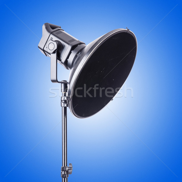 Studio light stand against the gradient Stock photo © Elnur