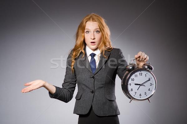деловая женщина часы поздно женщину работу бизнесмен Сток-фото © Elnur