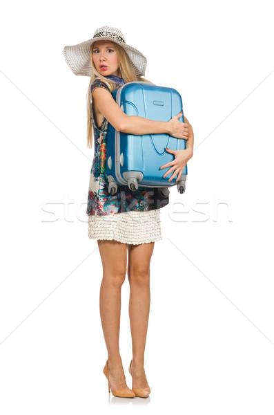 Donna isolato bianco felice sfondo Foto d'archivio © Elnur