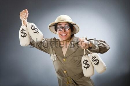 арабских человека деньги изолированный белый бизнеса Сток-фото © Elnur