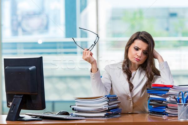 ストックフォト: 女性実業家 · 座って · 女性 · 作業 · ビジネスマン