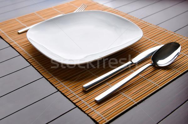 Mesa servido mesa cena alimentos Foto stock © Elnur