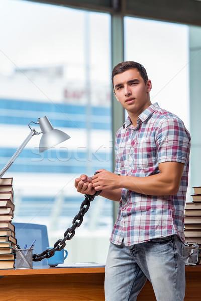 Jonge man afstuderen examens college boeken school Stockfoto © Elnur