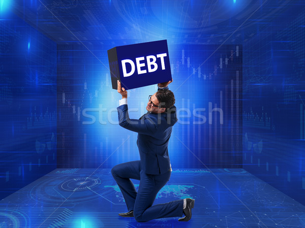 Geschäftsmann Schulden Business Geld Mann Bank Stock foto © Elnur