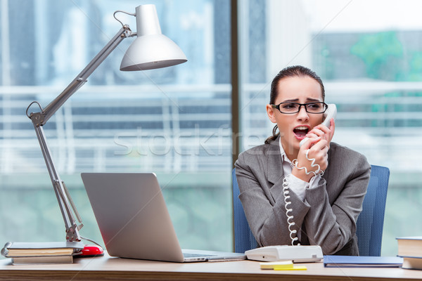 Stock photo: Call center operator in business concept