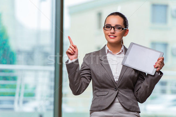 Woman with tablet computer in business concept Stock photo © Elnur