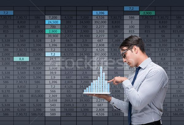 Zakenman handelaar beurs geld internet man Stockfoto © Elnur
