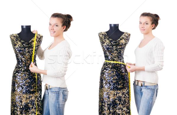 Nő szabó dolgozik ruha divat munka Stock fotó © Elnur