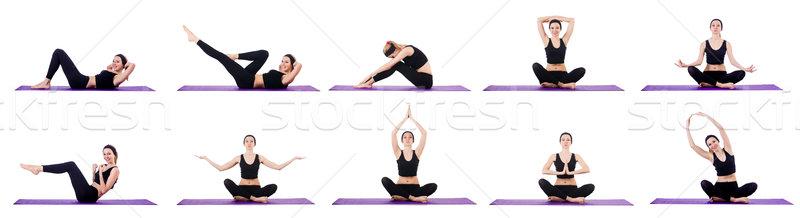 Egészséges életmód szett nő lány szexi test Stock fotó © Elnur