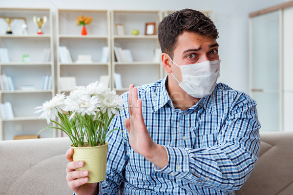 Man suffering from allergy - medical concept Stock photo © Elnur