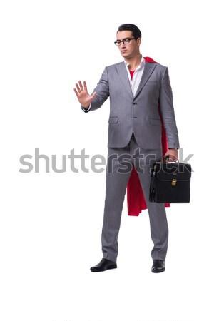 The superhero businessman isolated on white background Stock photo © Elnur