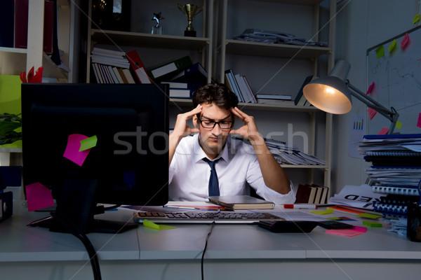 человека бизнесмен рабочих поздно служба работу Сток-фото © Elnur
