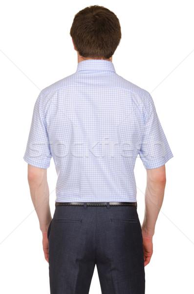 Férfi modell póló izolált fehér modell vásárlás Stock fotó © Elnur