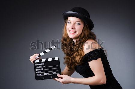 Mujer gangster película bordo blanco seguridad Foto stock © Elnur