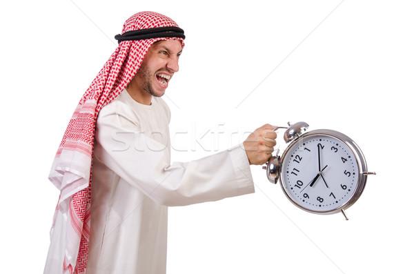 Emiraty człowiek czasu biały biznesmen młodych Zdjęcia stock © Elnur