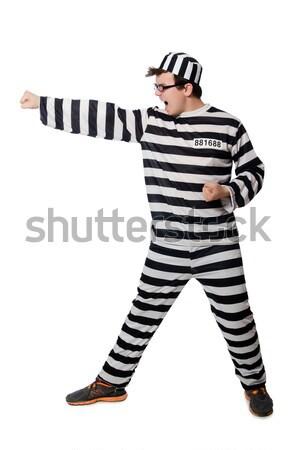 Stok fotoğraf: Tutuklu · tabanca · yalıtılmış · beyaz · hukuk · adalet