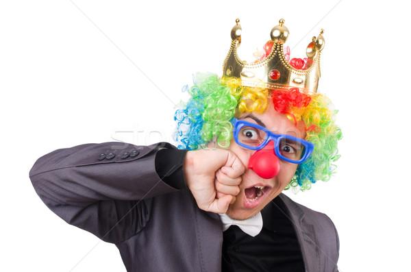 Zakenman kroon geïsoleerd witte kantoor glimlach Stockfoto © Elnur