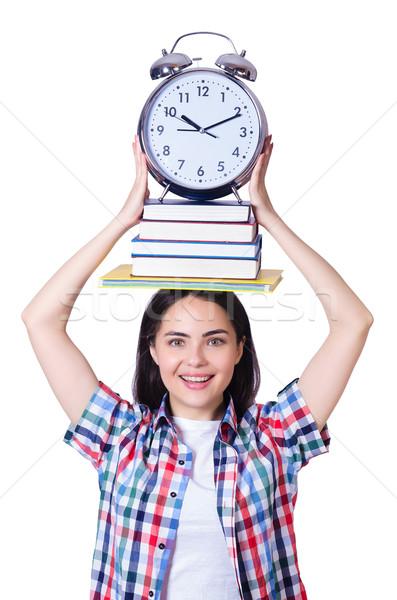 öğrenci karşılamak tarihler kitap kitaplar okul Stok fotoğraf © Elnur